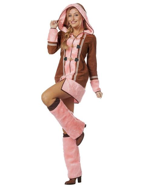 Eskimo Kostüm rosa für Damen