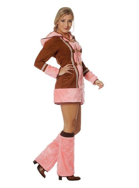 Różowy kostium eskimoski dla kobiet