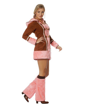 Pink eskimo costume for women