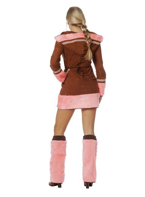 Pink eskimo costume for women