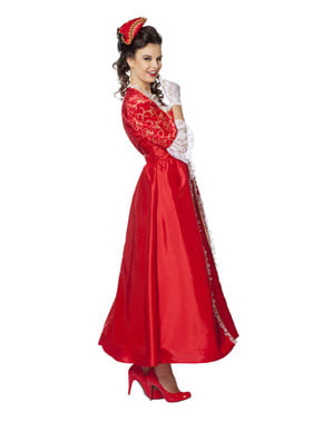 Rood markies kostuum voor vrouw