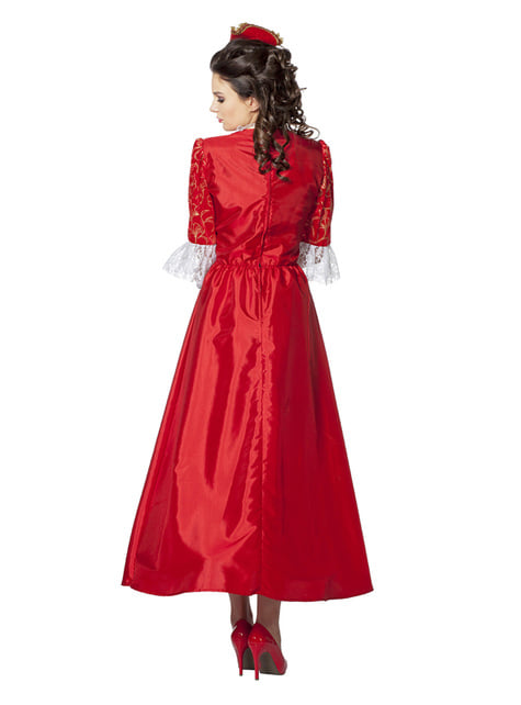 Czerwony Strój Markizy dla kobiet