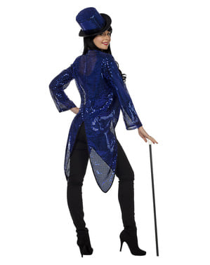 Disfraz de domadora azul para mujer