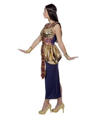 Fato de Rainha de Egipto dourada para mulher