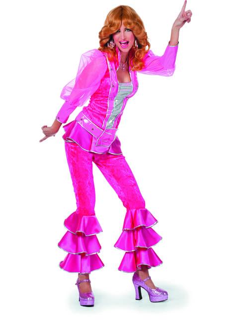 Disfraz de Mamma Mia deluxe rosa para mujer - Abba