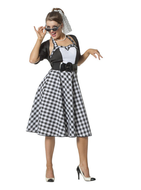 50er rock og rull kostume til kvinder