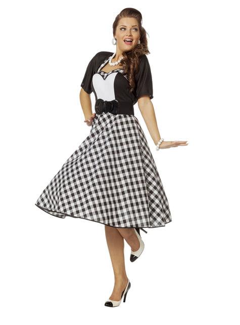 Disfraz de Rock & Roll años 50 para mujer - original