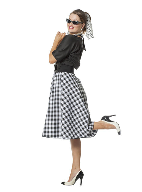 Costume Rock & Roll anni 50 per donna