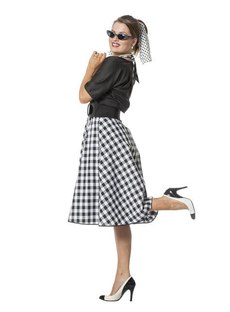 Disfraz de Rock & Roll años 50 para mujer - Halloween