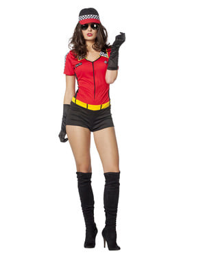 Autorennfahrer Kostüm für Damen