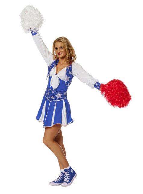 Blue Cheerleader Costume for Women