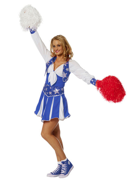 Disfraz de animadora azul para mujer - mujer