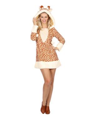 Maskeraddräkt giraff dam
