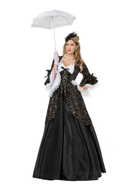 Déguisement Marquise noir femme