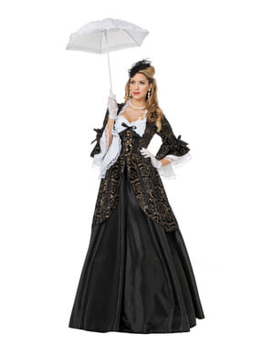 Черен дамски костюм на маркиза