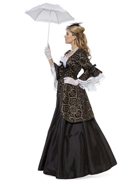 Disfraz de Marquesa negro para mujer - mujer