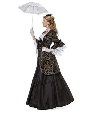 Svart fyrstinne kostyme til dame