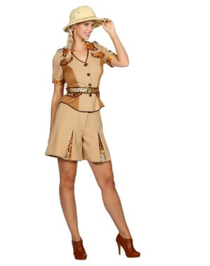 Safari kostuum voor vrouw
