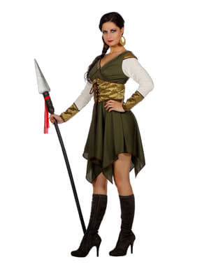 Costum de gardian al castelului pentru femeie