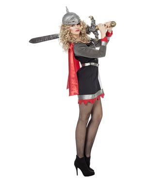 Costum de cavaler gri pentru femeie