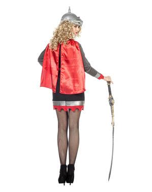 Kostum ksatria abu-abu untuk wanita