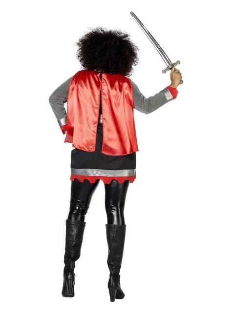 Fato de cavaleiro cinzento para mulher