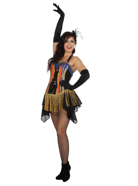 Disfraz de bailarina de cabaret de los años 20 para mujer