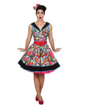 女性のためのアートピンナップドレスをポップ