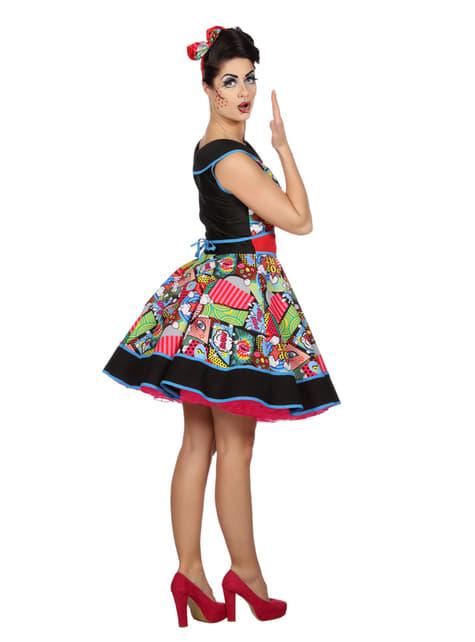 Disfraz de Pop Art elegante para mujer - original