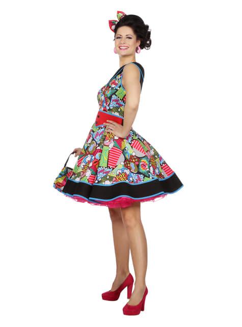 Disfraz de Pop Art elegante para mujer - traje
