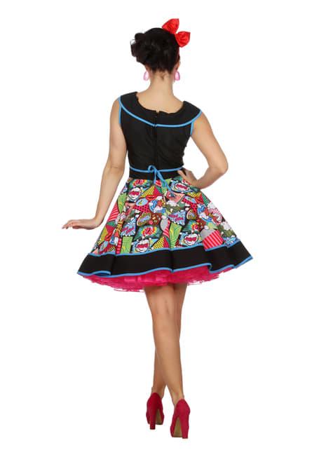 Disfraz de Pop Art elegante para mujer - Carnaval