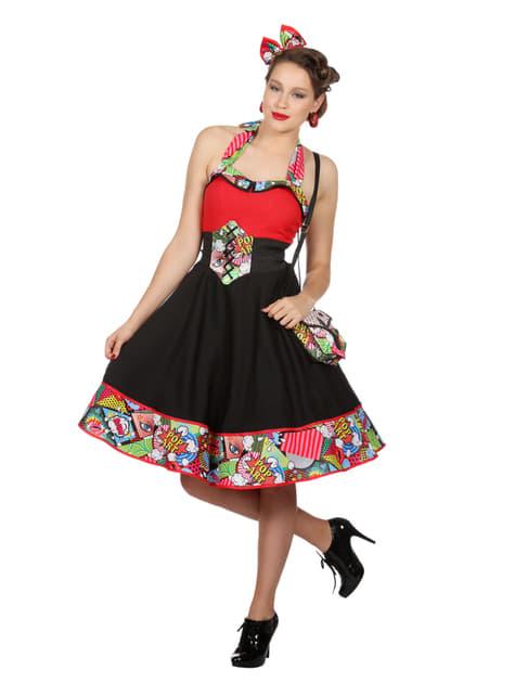 Disfraz de Jenny Pop Art para mujer