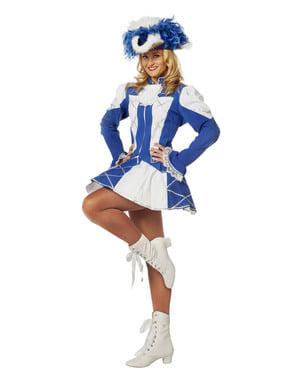 Blue majorette costume for women
