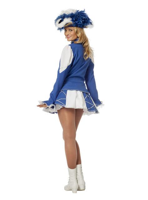 Disfraz de majorette azul para mujer