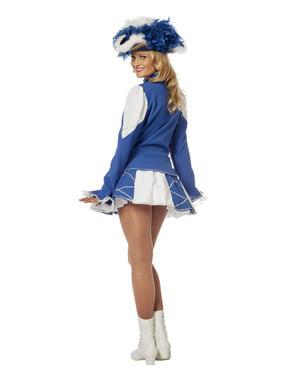 Blåt majorette kostume til kvinder