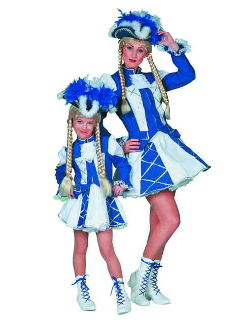 Blue majorette costume for women