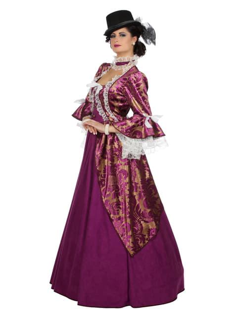 Victoriaanse dame kostuum