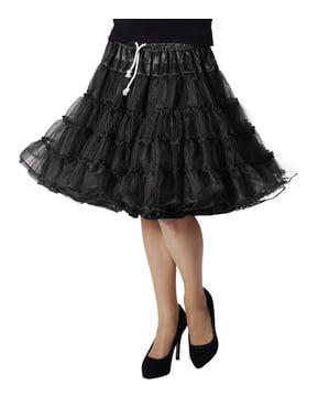 Чорна нижня спідниця Deluxe для жінок