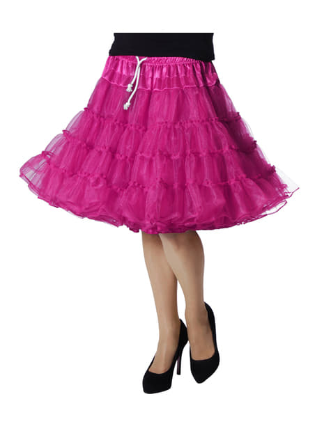 Anáguas deluxe cor-de-rosa para mulher
