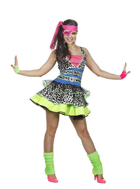 80er Jahre Bewegung Kostüm für Damen