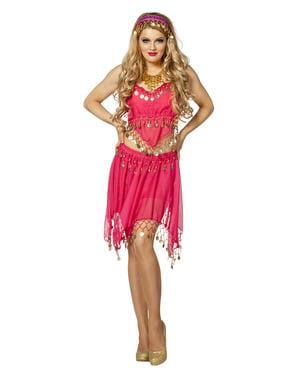 Rosa dame fra India kostyme til dame
