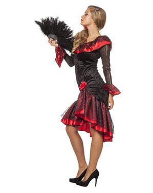 Fato de espanhola tradicional para mulher
