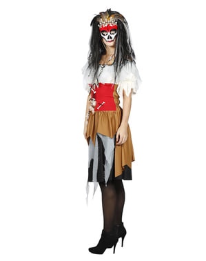 Costum de profesor Voodoo pentru femei