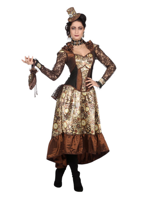 Deluxe Steampunk costume for women