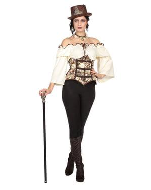 Steampunk kostuum voor vrouw