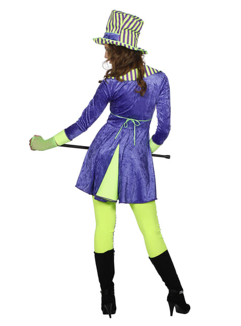 Disfraz de domadora morado para mujer