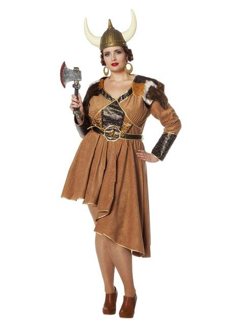 Disfraz de vikingo para mujer