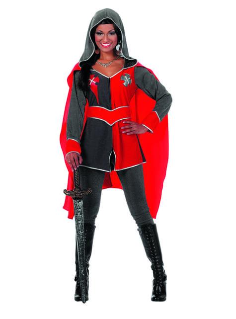Punainen ritarin asu naisille