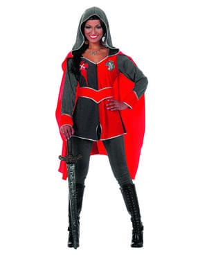 Rød ridder kostyme til dame