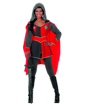 Rood ridder kostuum voor vrouw